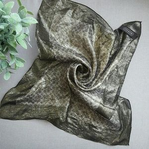 Coach gold square scarf wrap